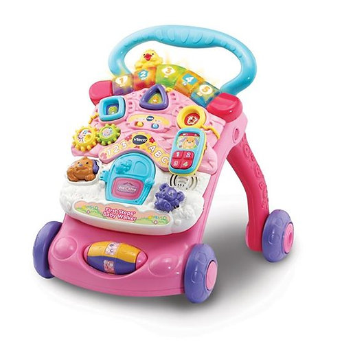 Vtech 2 in 1 First Steps Baby Walker Pink