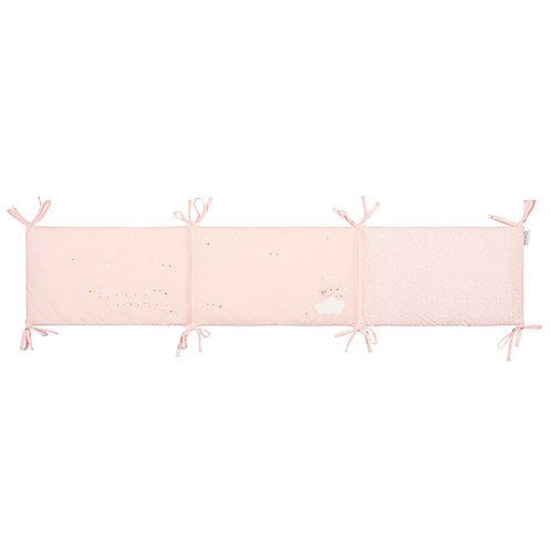 Pirulos Birdie Pink Cot Bumper