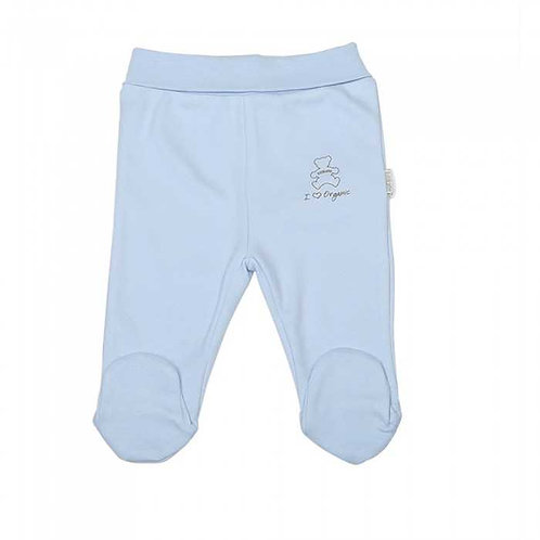 Organic Baby Footed Pants Blue
