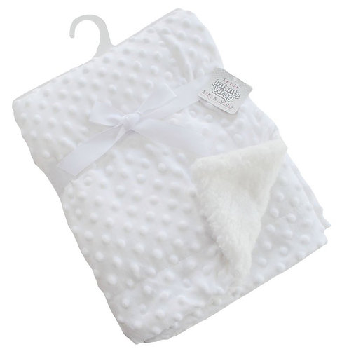 Soft White Dotted Blanket