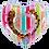 Thumbnail: Inflatable Heart Rainbow Cupholder