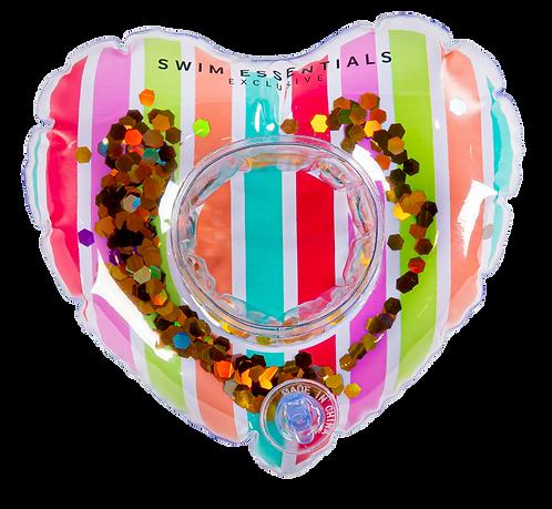 Inflatable Heart Rainbow Cupholder