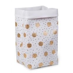 Childhome Storage Basket Gold Dots