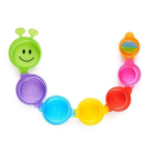 Bath Toy Caterpillar Cups