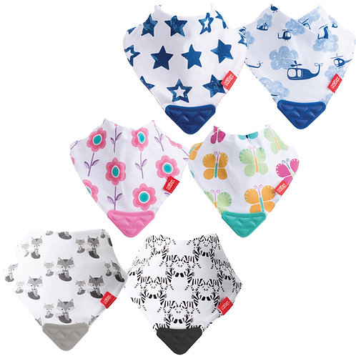 Bandana Bib with Teether 2pk