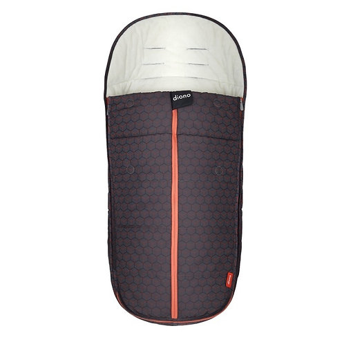 Diono  All Weather Footmuff Charcoal Copper Hive