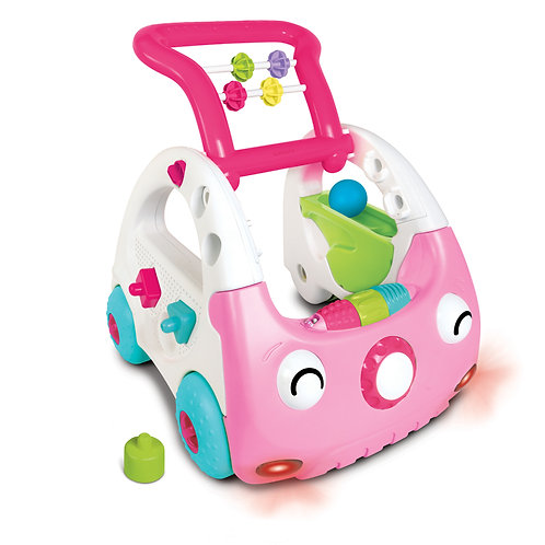 Infantino 3 in 1 Discovery Car Pink