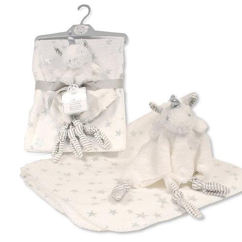 Baby Blanket with Unicorn Comforter
