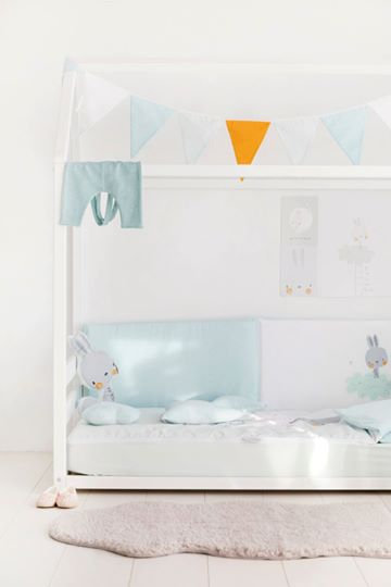 Pirulos 3pc Baby Bedding Set Rabbit