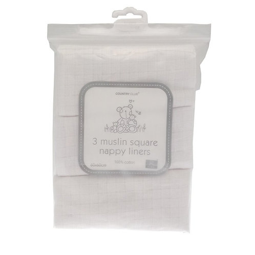 Muslin Squares White 3 Pack