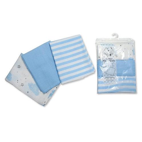 Muslin Square Stripe 3 Pack