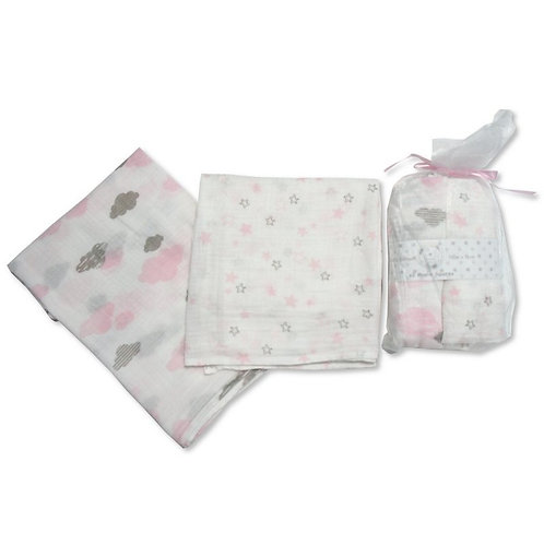 Muslin Squares Clouds 2 Pack