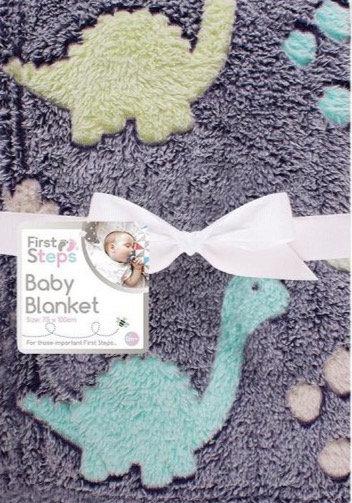 Super Soft Dino Baby Blanket