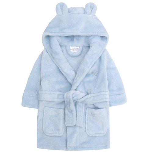 Blue Hooded Dressing Gown