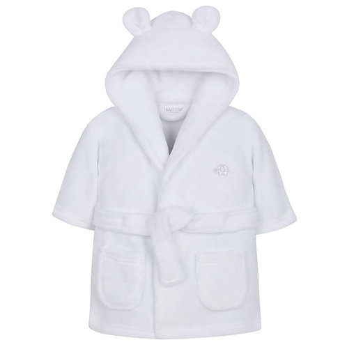 White Hooded Dressing Gown