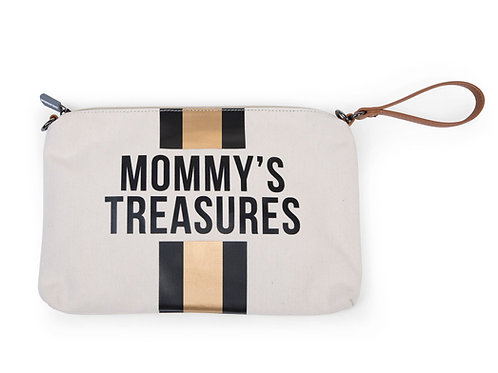 Mommy's Treasures Clutch Gold Stripe