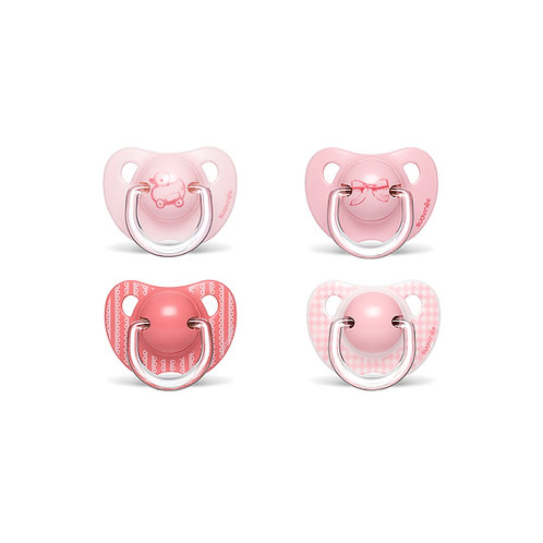 Suavinex 6-18m Soother Anatomical Silicone Rose 2pk