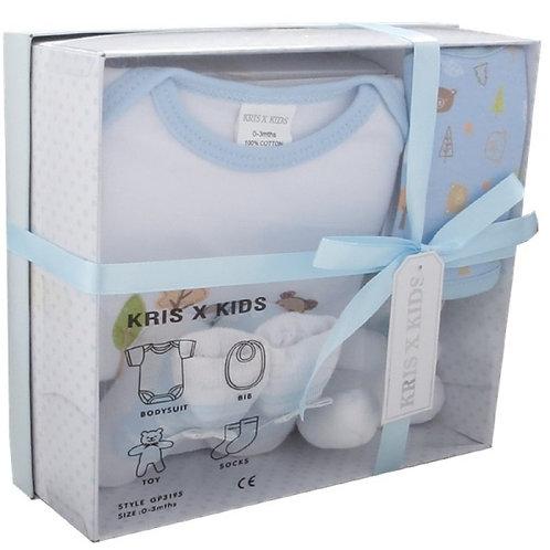 Luxury 4pc Gift Set 0-3m Blue