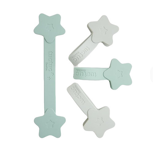 Tuc Tuc Muslin Magnetic Clips 4 Pack Mint