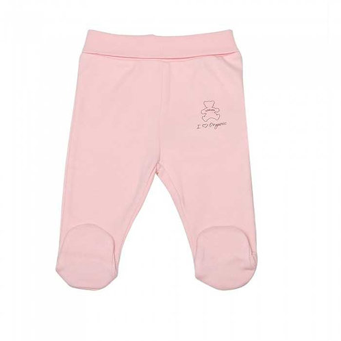 Organic Baby Footed Pants Pink