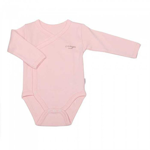 Organic Pink Wrap Over Vest Long Sleeve