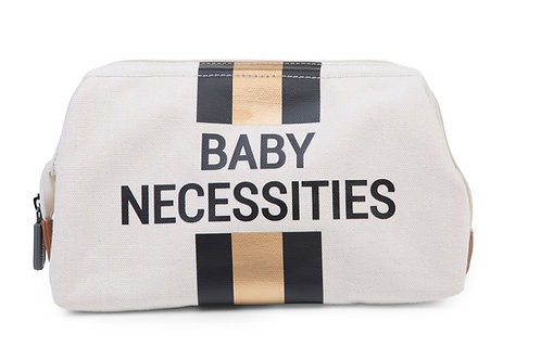 Childhome Baby Necessities Toiletry Bag Gold Stripe