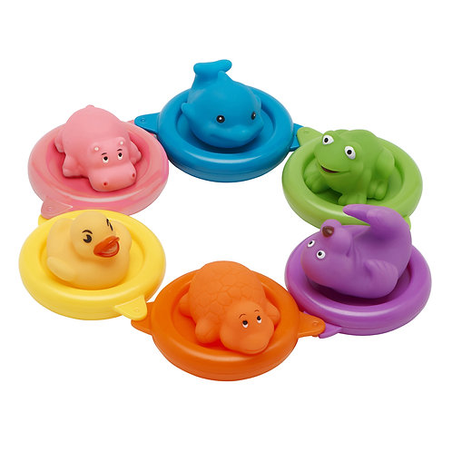 Baby SplashBath Toys Swim Rings 6pk