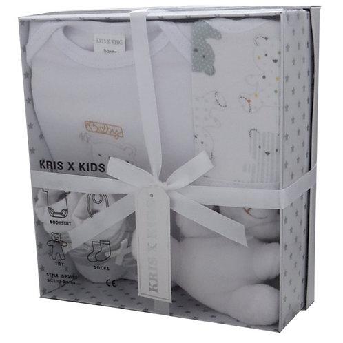 Luxury 4pc Gift Set 0-3m White