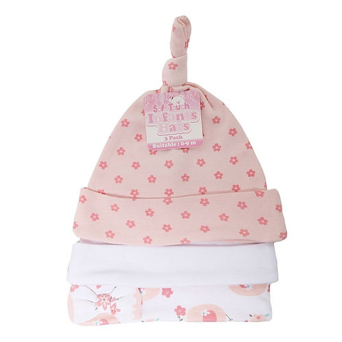 Baby Elephant 3 Pack Hats