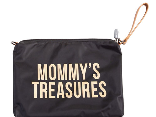 Mommy's Treasures Clutch Black Gold