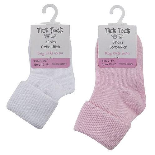 3pk Baby Turn Over Socks (Euro 19-22)