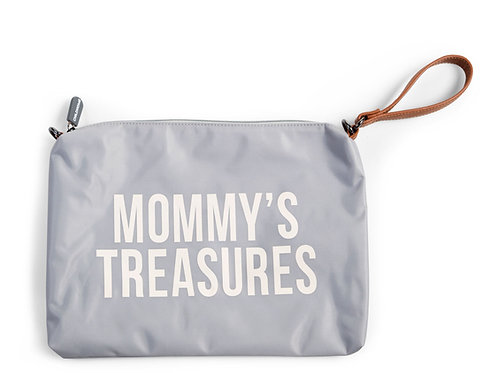 Mommy's Treasures Clutch Grey