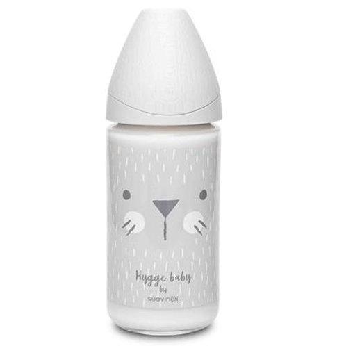 Suavinex 240ml Hygge Glass Bottle Silicone 3Pos