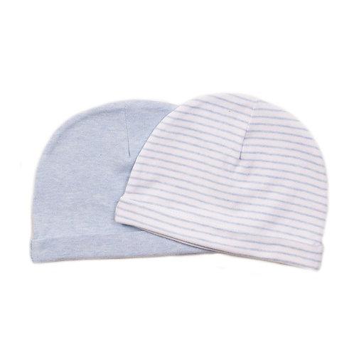 Blue Baby Hats Stripe 2pk