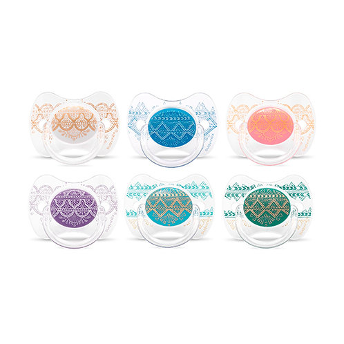 Suavinex 4-18m Couture Ethnic Soothers Silicone