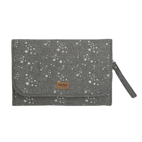 Tuc Tuc Nappy Changing Mat/Bag Grey Stars
