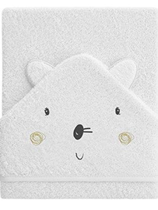 Pirulos Bunny Hooded Towel Large
