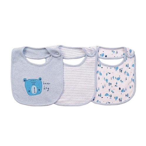 Blue Bear Hug Bibs 3 Pack