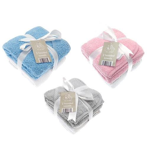 Baby Hooded Towels 2pk