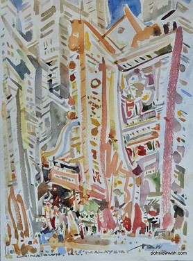 KL CHINATOWN, 2010, Watercolour