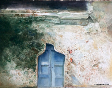 DOOR, 1990, Watercolour