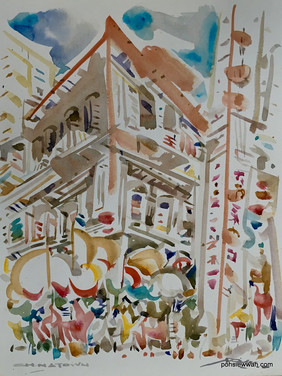 CHINATOWN, SINGAPORE, 2008, Watercolour