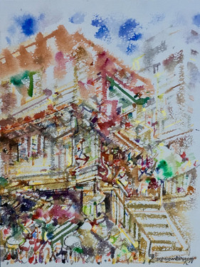 BOAT QUAY, SINGAPORE, 2012, Watercolour