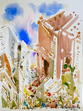 CLARKE QUAY, 2009, Watercolour