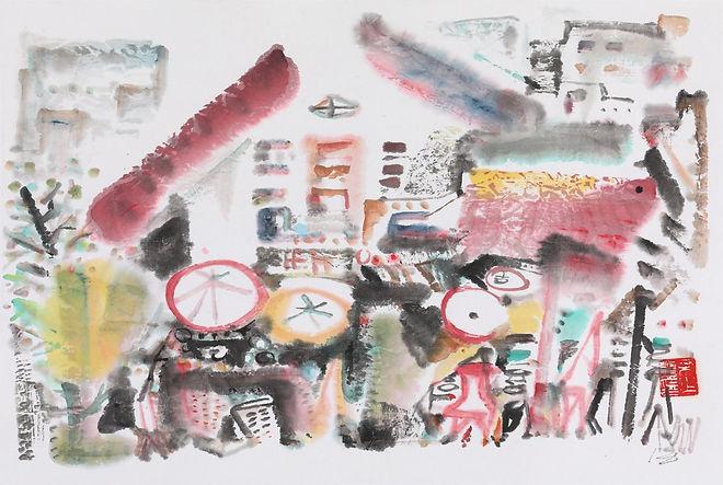 Morning Market.  33 x 50 cm. IMG_5088.jp