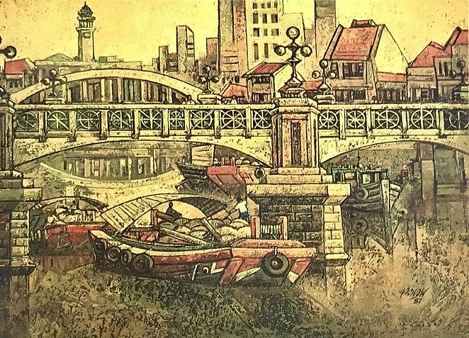 The Bridge, oil on canvas, 1983, collect