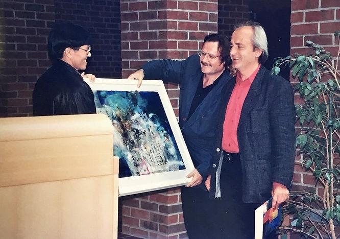 Presentation of artwork to Director of F