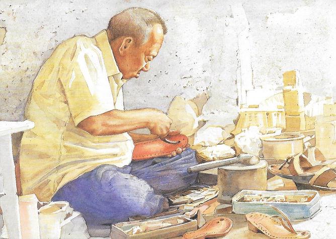 psw postcard3 - Malay Sandal Maker.jpg