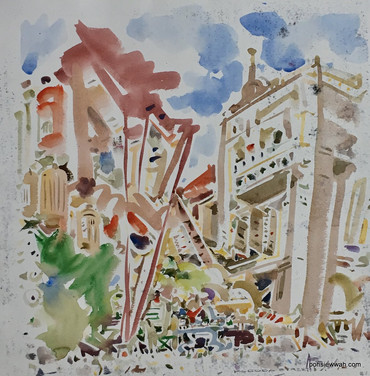 KL PETALING, 2008, Watercolour