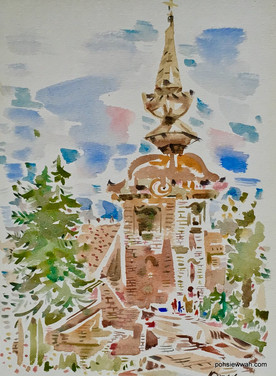 FLENSBURG, GERMANY, 2007, Watercolour